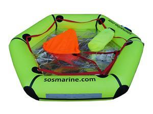 SOS 4 Person Life raft