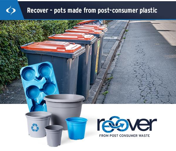 RECOVER from post consumer waste - 100% circulair.